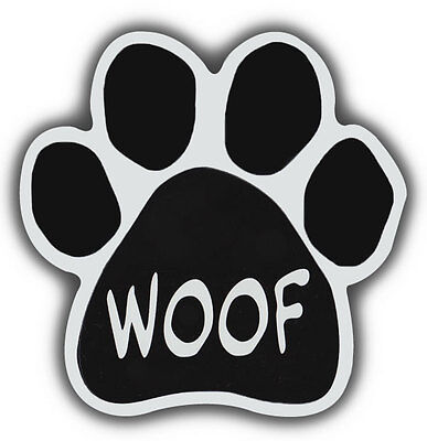 Dog Paw Shaped Magnets: WOOF | Cars, Trucks, Refrigerators