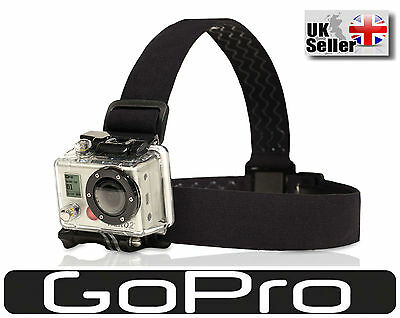 Head Strap Mount GoPro HD Hero 4 3+ 3 2 1 Helmet Adjustable Hold Belt Tie-wrap