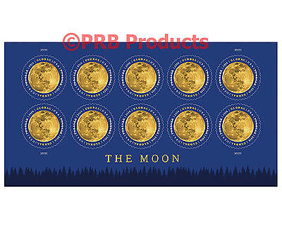 The Moon Sheet of 10 USPS Forever Rate Global Postage Stamp International 2016