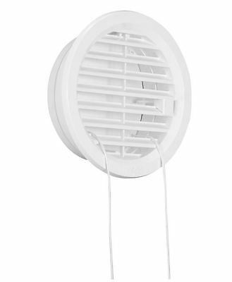 """Hit&Miss Circle Air Vent Grille Cover Ø100mm(4"""") Ducting WHITE Ventilation Cover"""