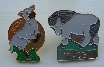 2 Rare Wade Collectors Enamel Pin Badges