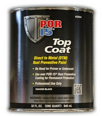 Top Coat, Chassis Black, Quart POR-45904 Brand New!
