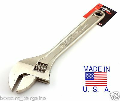 "Wilde Tool 12"" Inch Adjustable Wrench AWC12 MADE IN USA Heat Treated Alloy Steel"