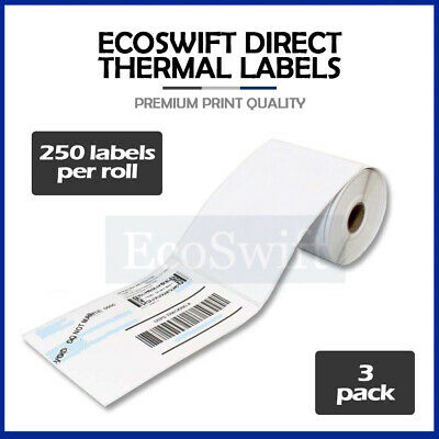 "3 Rolls 250 4"" x 6"" Zebra 2844 Eltron Direct Thermal Shipping Printer 750 Labels"