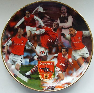 Danbury Mint Arsenal Football Club Collectors Plate Great Strikers