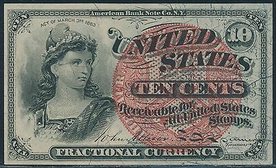 Fr1258 10¢ Fractional Currency 4Th Issue Br3282