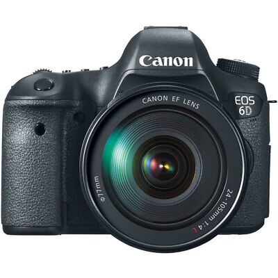 Canon EOS 6D Digital SLR Camera with EF 24-105mm L IS USM Lens 20.2MP NEW USA