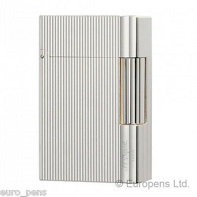 ST Dupont Lighter - Gatsby Vertical Lines Silver Finish (018137) Gift Boxed