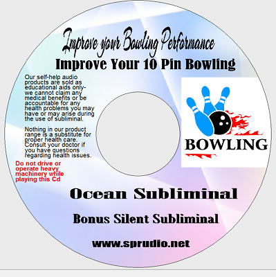 Bowling- Improve your Bowling Performance 10 Pins Bowling Ocean Subliminal CD