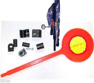 Bicycle bike safety arm Lollipop flag red reflector handlebar cycle road spacer