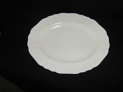 Vintage J & G Meakin  12 1/4 Inch Oblong White Platter with Scallops MINT