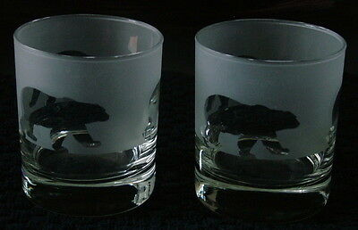 Polar bear Whisky Glasses by Glass in the Forest.