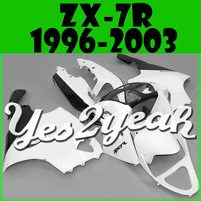 ABS yes2yeah Fairing Fit ZX-7R 96-03 ZX7R 1996-2003 Black Off-white color K76Y30
