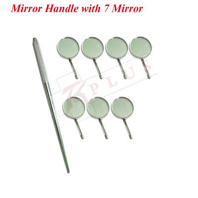 DENTAL MOUTH INSPECTION MIRROR + HANDLE DENTIST LAB INSTRUMENTS with 7 Mirrors