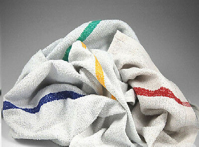 5Lb Box Of Terry Striped Bar Mop Towels Wiping Rags Cleaning Cloths New
