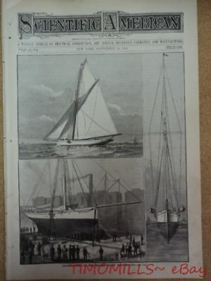 1886 Galatea vs Mayflower Yacht Sixth America's Cup Race Scientific American