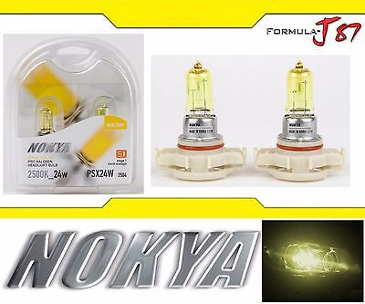 NOKYA YELLOW 2500K PSX24W 12276 24W Nok7691 TWO BULBS FOG LIGHT REPLACEMENT