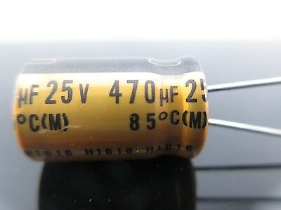 3 Pcs of Nichicon 63V 22UF Fine-Gold FG for Audio Made in Japan Hi-Fi Capacitor