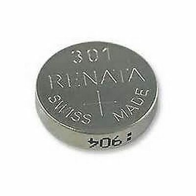 301 SR43SW  Renata Swiss Made Watch Batteries Silver Oxide SR43