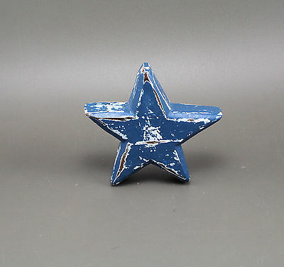 Weathered STAR Hand Painted Wood Cut Out Novelty Drawer Knob Pull