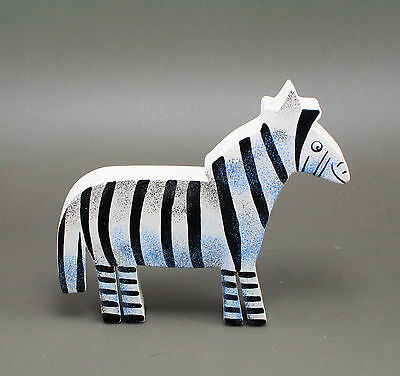 ZEBRA Hand Painted Wood Cut Out Childen's Novelty Drawer Knob Pull