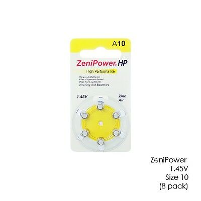 Zenipower 1.45V Hearing Aid Batteries Size 10 (48 Batteries Total)