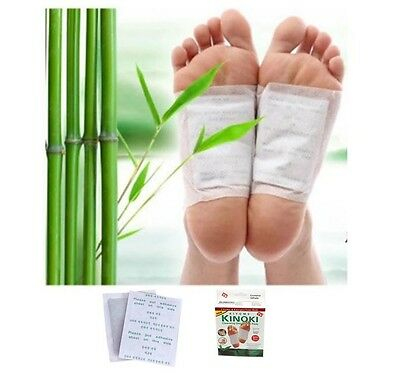 New Kinoki Detox Foot Pads Patches W/ Adhesive Sheets Herbal Cleasing Awm1