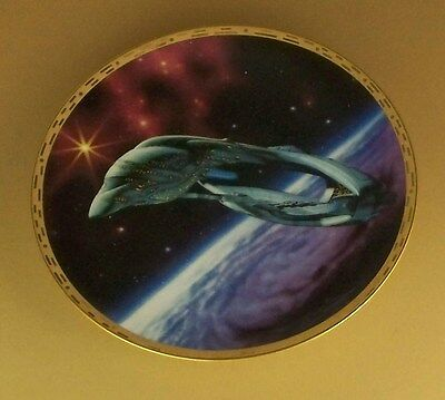 STAR TREK The Voyagers ROMULAN WARBIRD Plate TV Series + COA Hamilton Collection