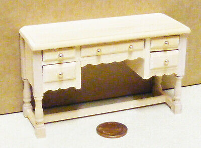 1:12 Scale Dolls House Miniature Natural Finish Dressing Table Bedroom Furniture