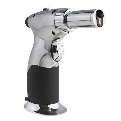JOBON Steel Adjustable Flame Butane Gas Refillable Cigar Jet Torch Lighter