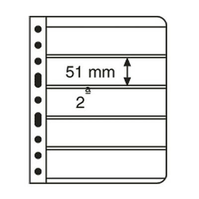 5 CLEAR VARIO STAMP STOCK SHEETS CLEAR SIDED, 5 STRIPS - (195mm X 51mm STRIPS)