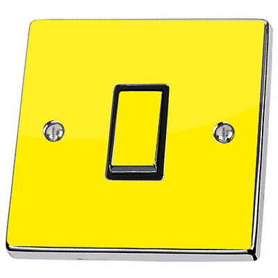 Plain Bright Yellow Light Switch & Power Socket Stickers skin decal vinyl cover