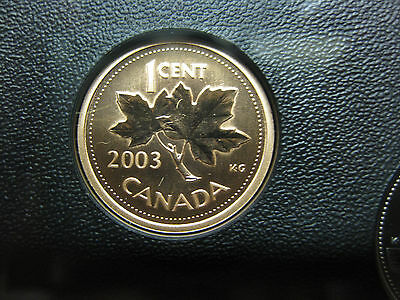 "2003 ""P"" UNC Specimen Canadian Penny One Cent - 1 cent coin - Old Effigy w Crown"
