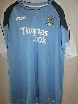 Manchester City 2005-06 no16 Home Football Shirt with Shorts Large Adults t cook