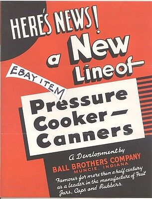 1936 Muncie Indiana BALL BROTHERS glass jar PRESSURE COOKER CANNER CANNING 2pcs