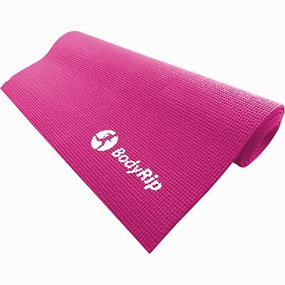 PINK THICK FOAM YOGA PILATES GYM MAT 6mm FITNESS GYM EXERCISE TRAINING