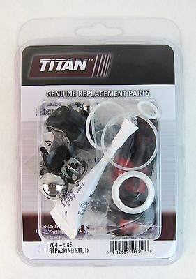 Titan 704-586 or 704586 OEM Repair Kit for many Titan Pumps