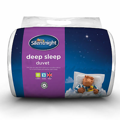 Silentnight Deep Sleep Hollowfibre Duvet With Polycotton Cover-13.5 Tog - King