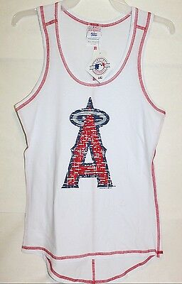 NWT Official MLB Los Angeles Angels Women's Tank Top Sleeveless Shirt Size S M