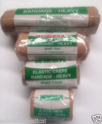 4 Pack Mixed Sizes Retention Bandages Compressed Elastic Crepe Heavy Duty