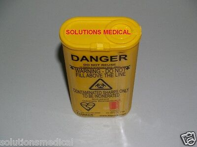 1 X 250ml SHARPS CONTAINER DISPOSAL KIT PORTABLE HARM REDUCTION