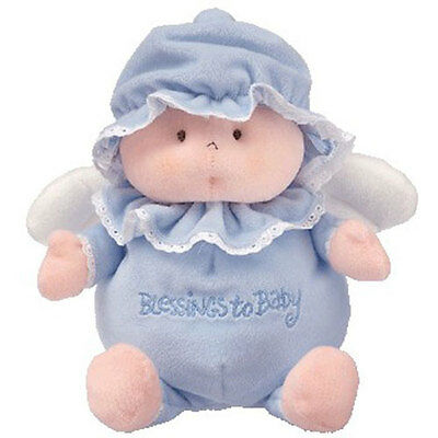 Baby TY - BLESSINGS TO BABY the Angel Bear (blue) (10 inch) - MWMT's
