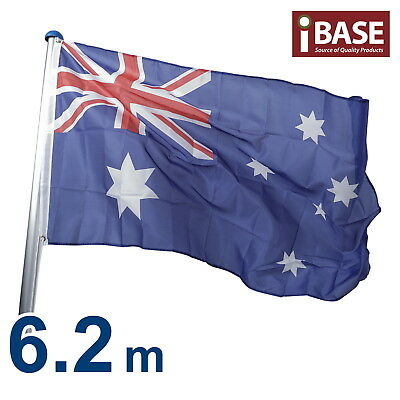 6.2 M Australian Aussie Flag Pole Aluminium Flagpole Full set Kit 6.2 meter Free