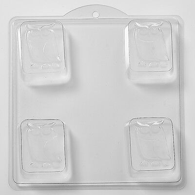 Owl On Rectangle Soap Mould 4 Cavity H04 FREE P&P