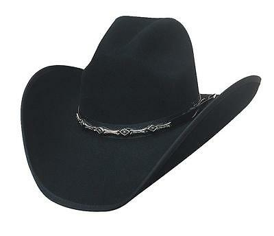 NEW Bullhide Hats 0663Bl Rodeo Round-Up Collection Big Shot 8X Black Cowboy  Hat 04c35e2aa31