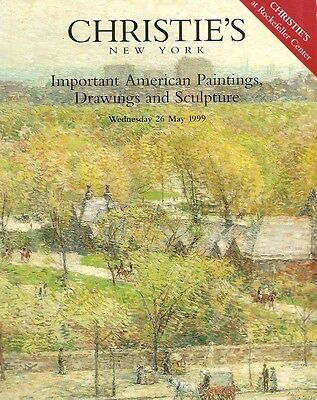 Christie's 9156 Imp American Paintings Sculpture Auction Catalog May 1999