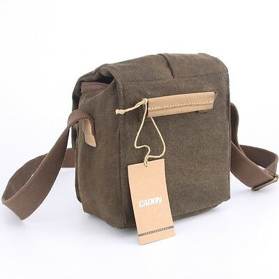 Vintage Shoulder Bag Camera Bag Waterproof Canvas for Nikon Sony Canon DSLR