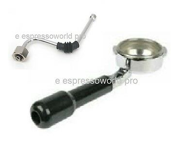 GAGGIA Bottomless filter holder - portafilter with 3 cup filter + steam pipe