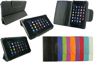 Universal Tri-Fold PU Leather Wallet Case Cover for 7'' inch Tablet & Stylus