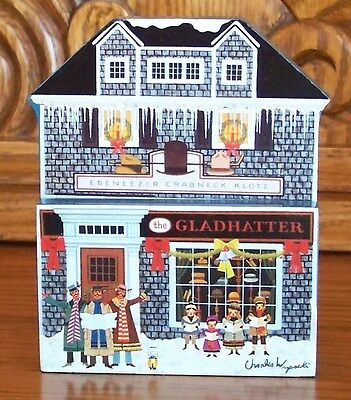 Charles Wysocki's Hometown Christmas THE GLADHATTER #6 Plate Sculptural Piece